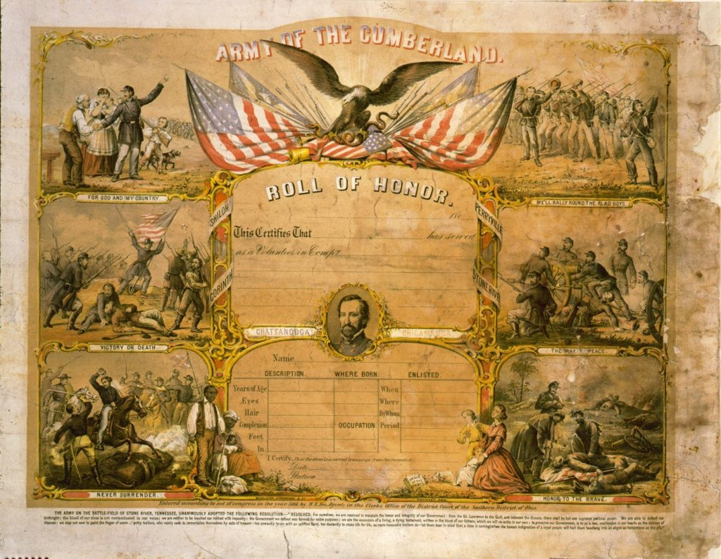 Army of the Cumberland Certificate