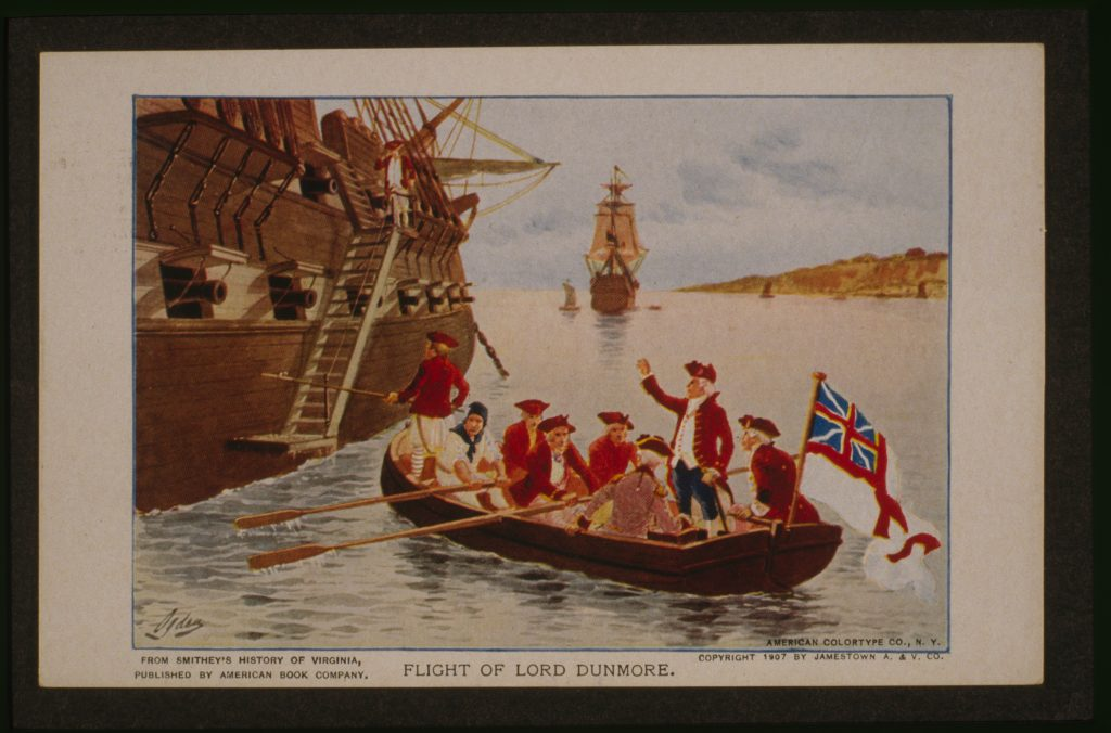 Flight of Lord Dunmore.