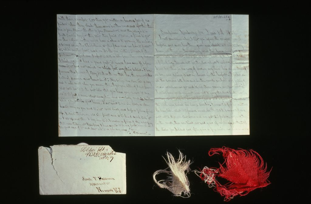 Confederate Flag Fragments Inside Soldier's Letter
