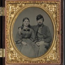 Confederate Private Edward A. Cary and His Sister Emma Cary
