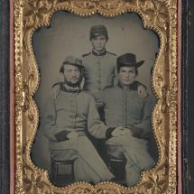 Three Unidentified Confederate Artillerymen