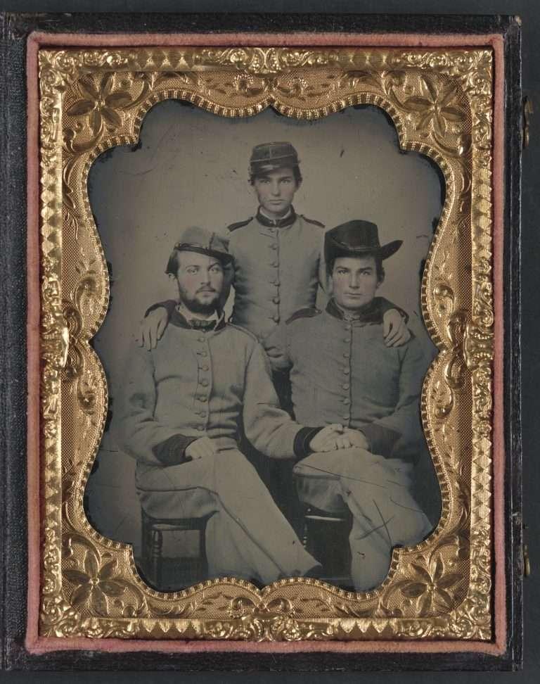 Three Unidentified Confederate Artillerymen