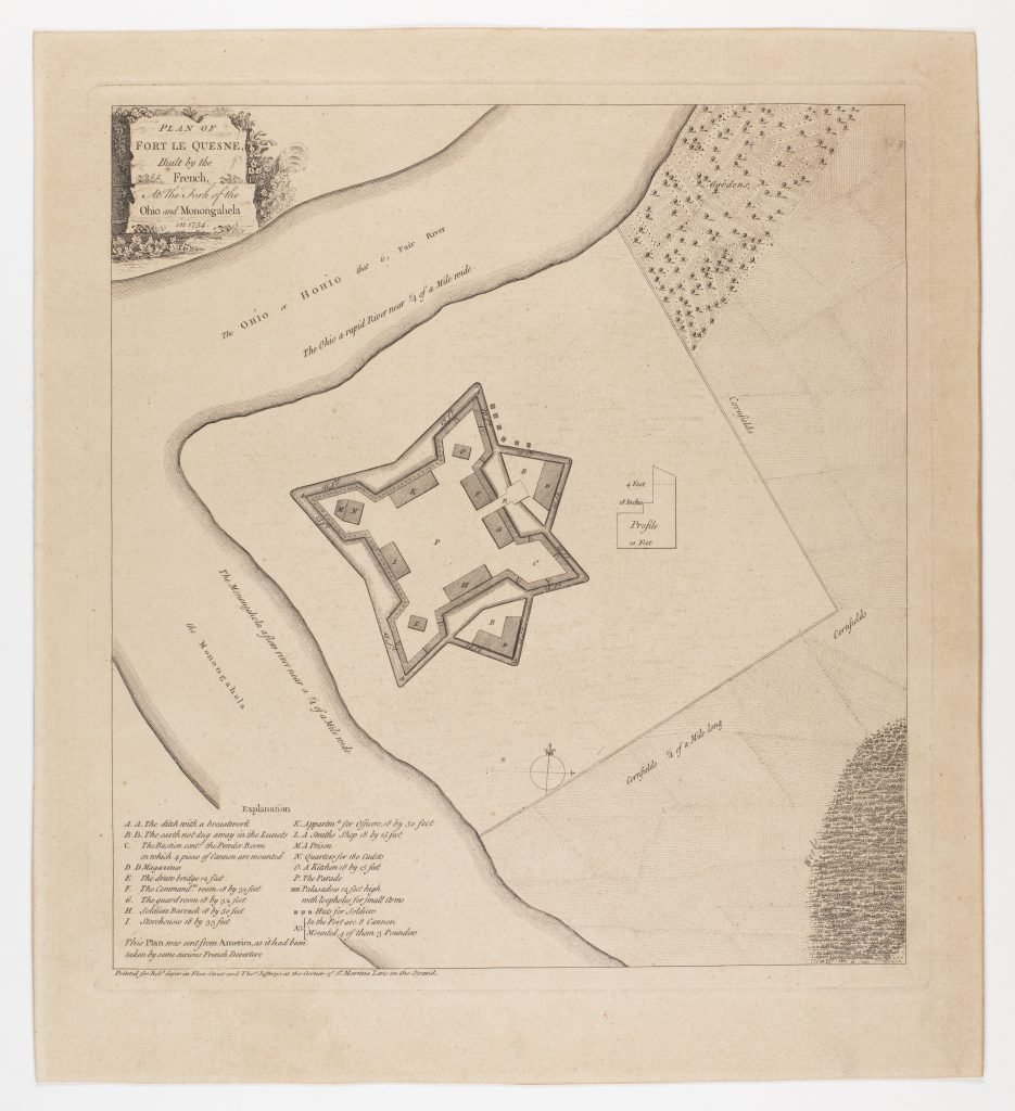 Plan of Fort Le Quesne