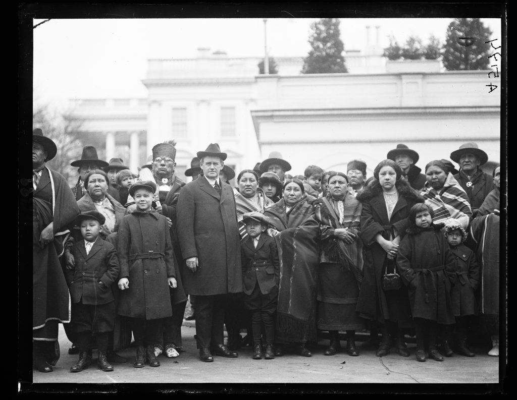 Osage Indians Outside the White House