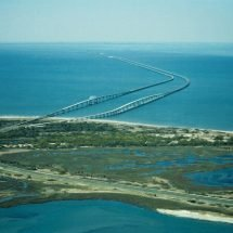 Aerial View of the Chesapeake Bay Bridge-Tunnel