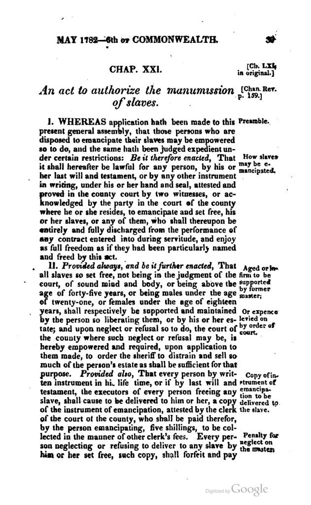 The Statutes at Large; Being a Collection of All the Laws of Virginia from the First Session of the Legislature