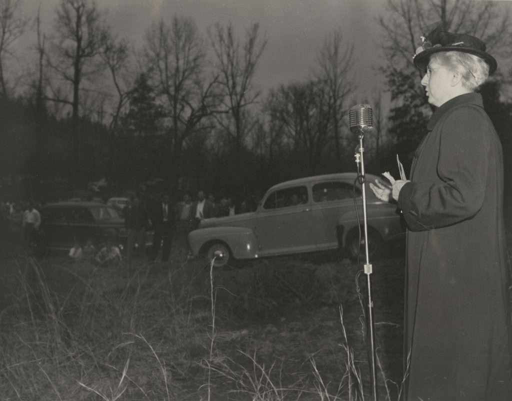 Lucy Randolph Mason at a Union Rally