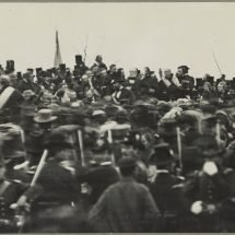 President Abraham Lincoln at Gettysburg