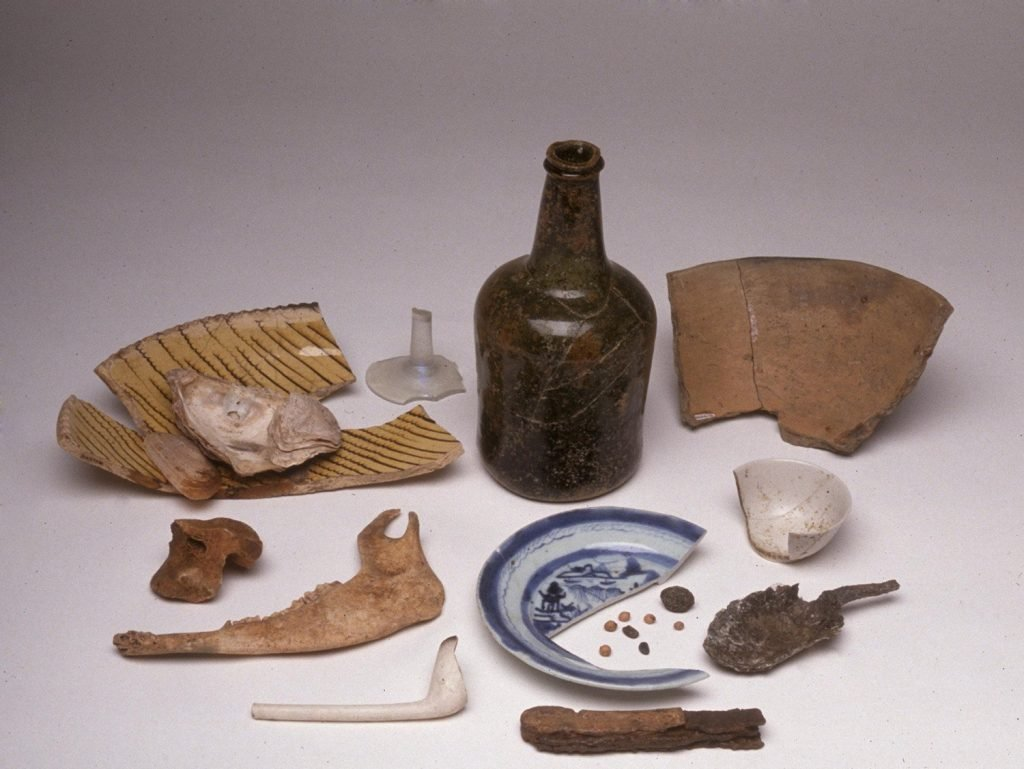 Artifacts from the House for Families Slave Quarter at Mount Vernon