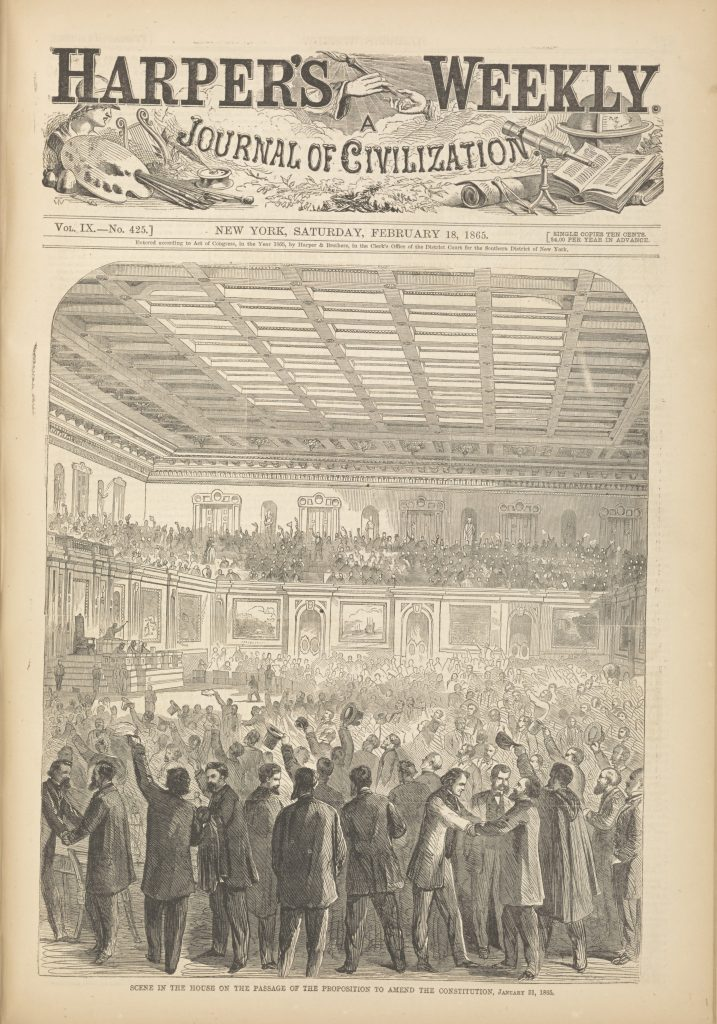 Scene in the House on the Passage of the Proposition to Amend the Constitution