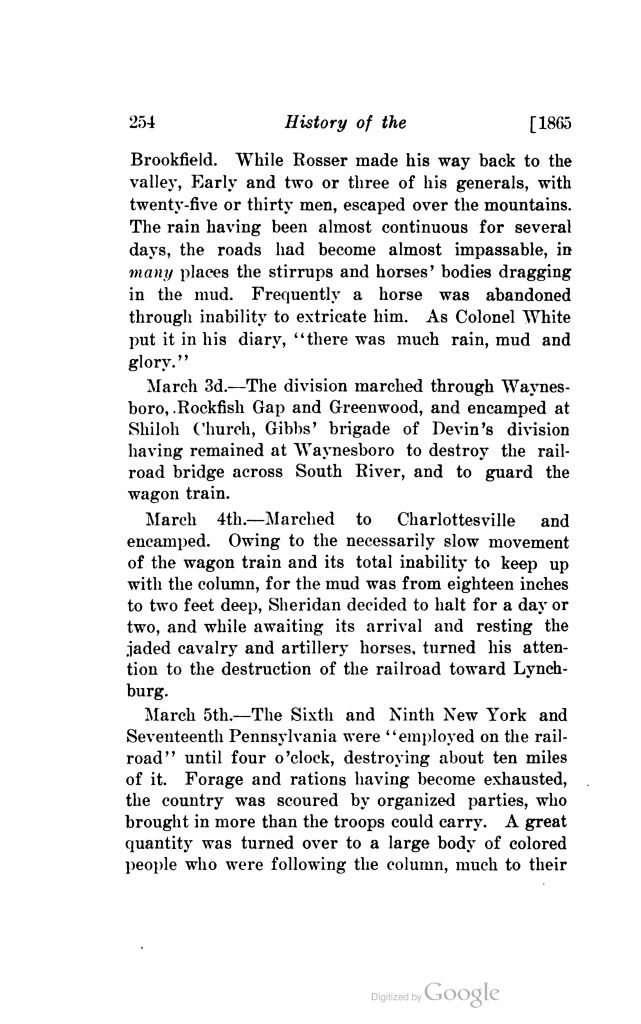 History of the Sixth New York Cavalry