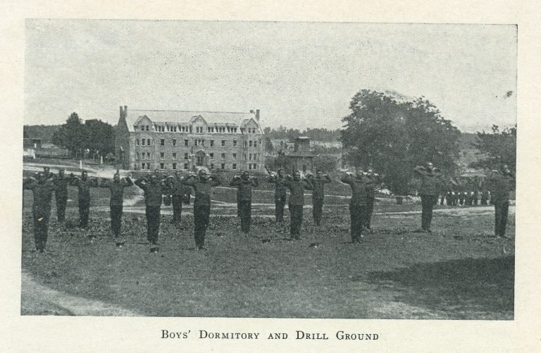 Boys Dormitory and Drill Ground