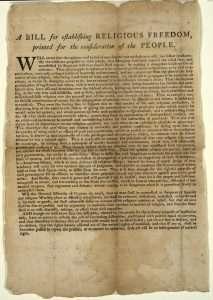 Virginia Statute for Establishing Religious Freedom (1786)