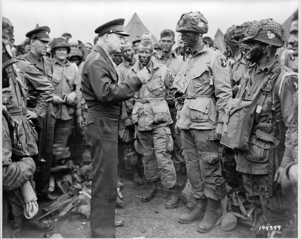 General Dwight D. Eisenhower Addresses Paratroopers before the Invasion of Normandy
