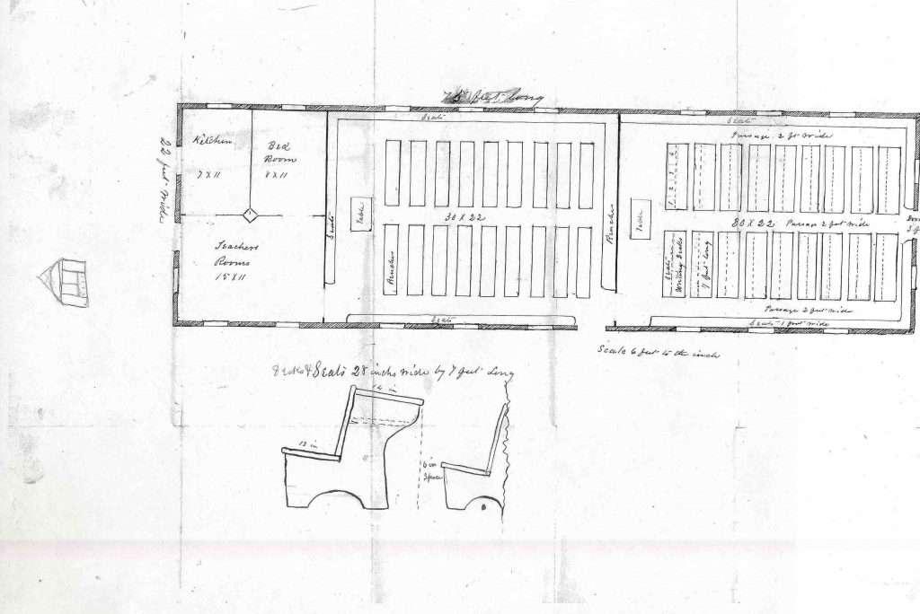 Plan for a Freedmen's Bureau School in Virginia