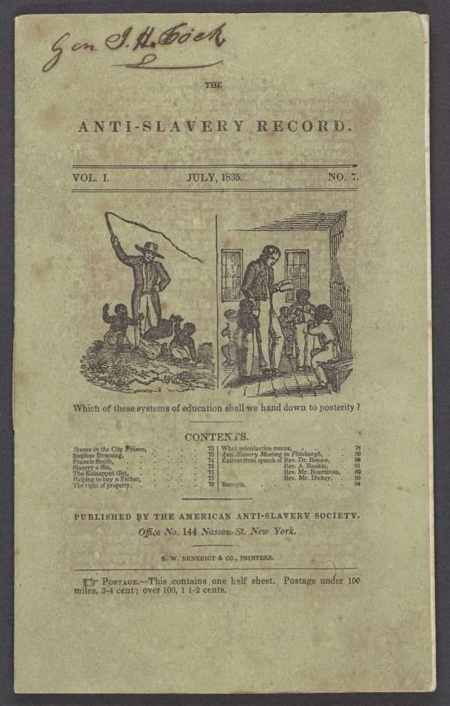 The Anti-Slavery Record.