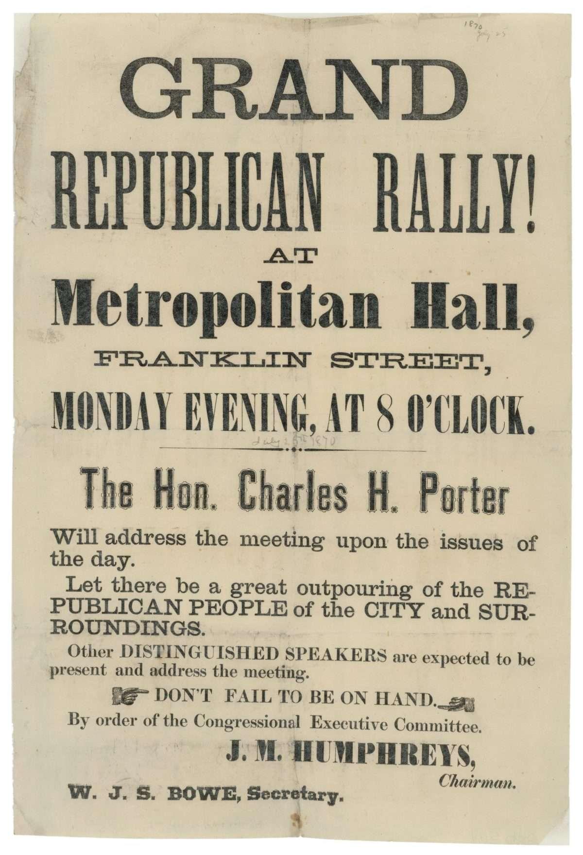 Grand Republican Rally!