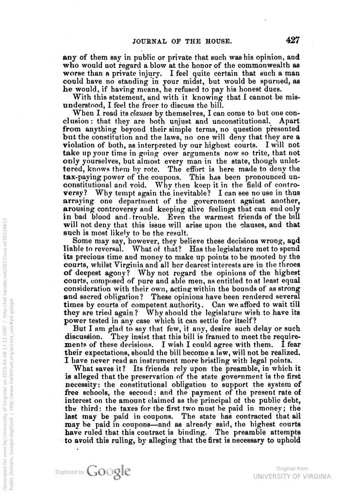 Journal of the House of Delegates of the State of Virginia (1878)