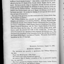 Minutes and proceedings of the Colored Shiloh Baptist Association