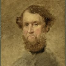Painting of a bearded Cyrus Hall McCormick with rosy cheeks