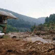 House torn asunder by the heavy deluge from remnants of Hurricane Camille