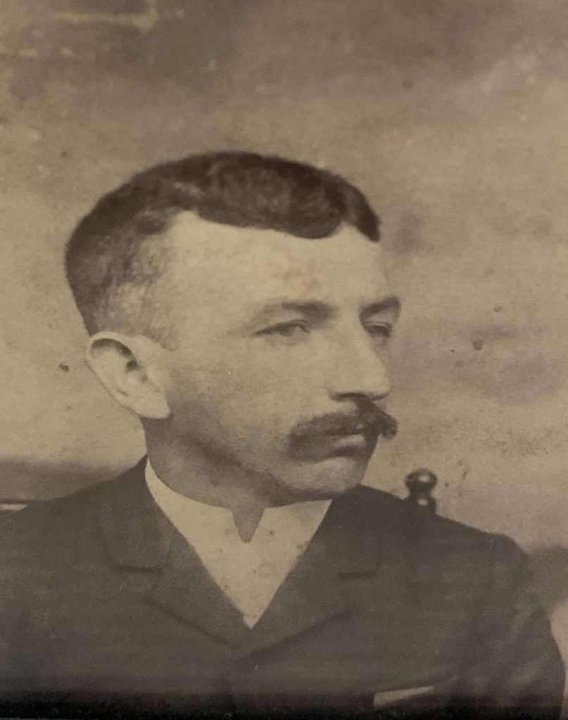 Profile photographic portrait of Leonard R. Flemings