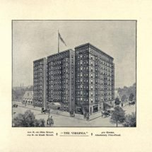 Ten-story hotel on the corner of Ohio and Rush streets in Chicago